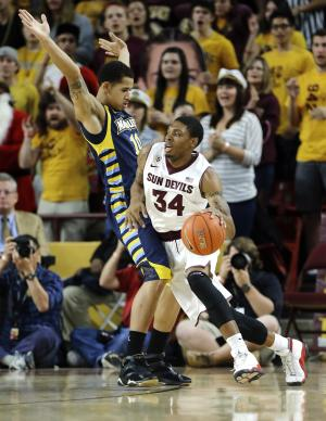 Sun Devils pull out 79-77 win over Marquette