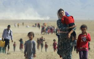 Yazidis in Iraq flee for their lives