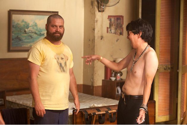 Zach Galifianakis Ken Jeong The Hangover Part II Production Stills Warner Bros. 2011