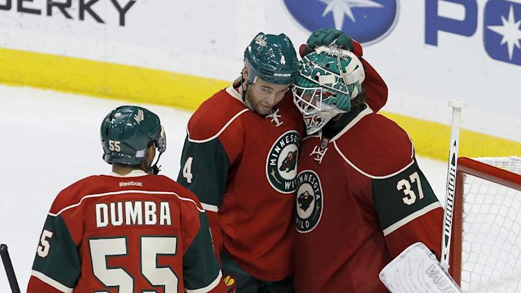 Rookies Fontaine, Dumba lead Wild past Stars, 5-1