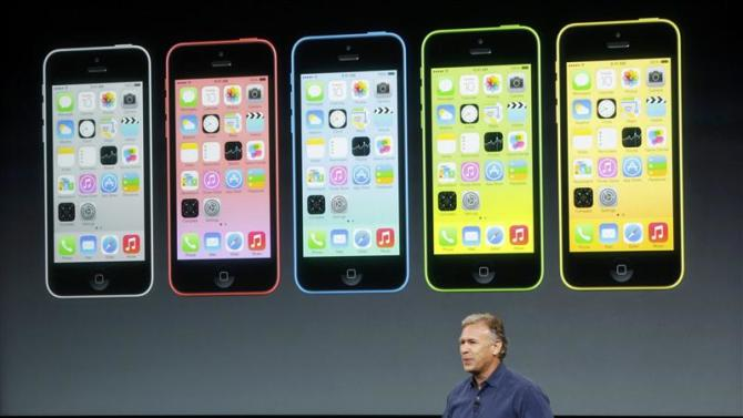 Phil Schiller, senior vice president of worldwide marketing for Apple Inc, talks about the new iPhone 5C at Apple Inc's media event in Cupertino