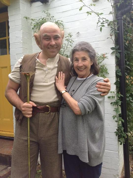 "Celebrity photos: David Walliams was keen to celebrate Roald Dahl's birthday, dressing up as the BFG. He tweeted this picture of himself in character alongside the caption: ""Me as the BFG with Roald's"