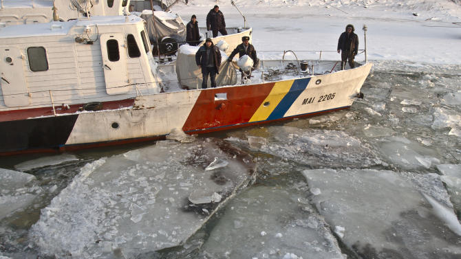 Frozen River Danube costing shippers millions