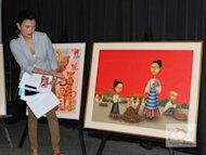 Daphne Oseña-Paez presides over an art auction by the United Nations Children's Fund (Unicef). The TV host is an active Unicef supporter and advocates breastfeeding among Filipino moms.