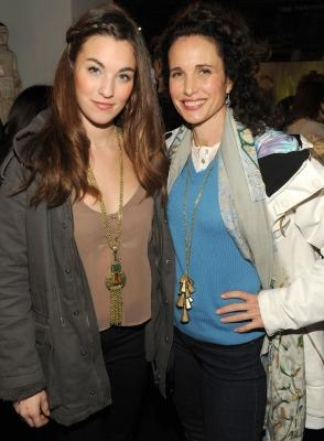 Rainey Qualley and her mother, Andie MacDowell, visit the Samsung Galaxy Tab Lift, Sundance, Park City, Utah, on January 23, 2011 -- Getty Premium