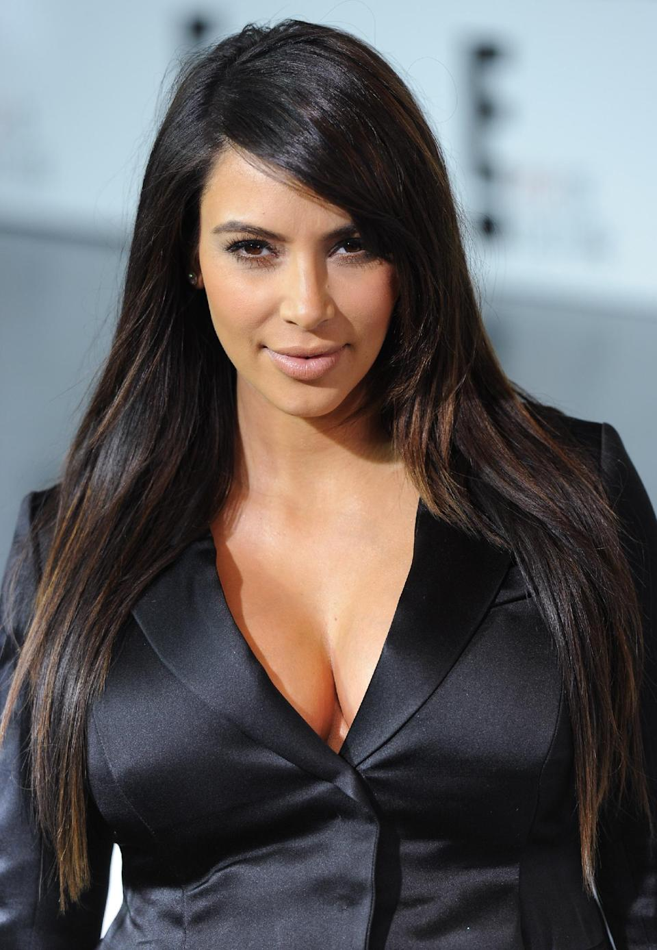 "Kim Kardashian from ""Keeping Up With The Kardashians"" attend the E! Network 2013 Upfront at the Manhattan Center on Monday April 22, 2013 in New York. (Photo by Evan Agostini/Invision/AP)"