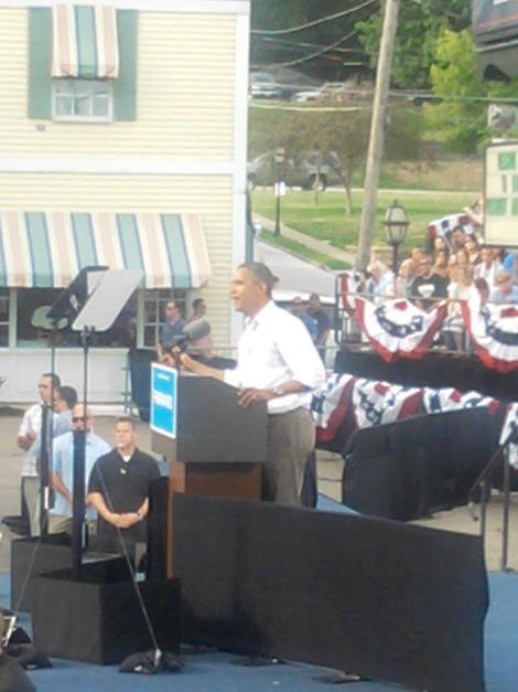 Obama Campaigns in Davenport, Iowa