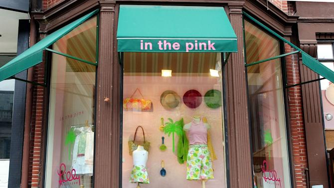 FILE - This Thursday, April 15, 2004, file photo, shows a  retail clothing store on Newbury Street in Boston, Wednesday, June 11, 2003, which features the trademark colorful Lilly Pulitzer fashion line, made famous in Florida in the 1960s. Pulitzer, died in Florida at 81 on Sunday, April, 7, 2013. (  (AP Photo/Chitose Suzuki)