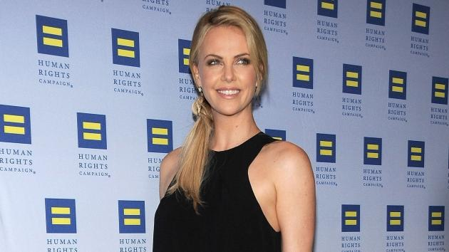 Charlize Theron arrives at The Human Rights Campaign (HRC) Los Angeles Gala in Los Angeles on March 17, 2012 -- Getty Images