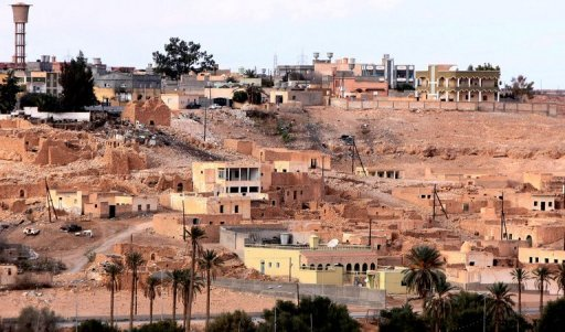 View of the town of Bani Walid in January 2012. Two Libyan journalists kidnapped while covering elections in the town of Bani Walid, a final bastion of fighters loyal to toppled leader Moamer Kadhafi, were released on Monday