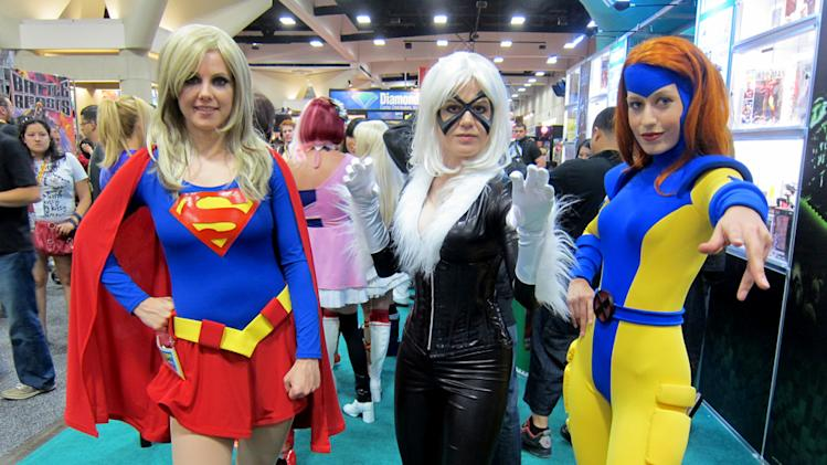 Supergirl, Black Cat and Jean Grey - San Diego Comic-Con 2012