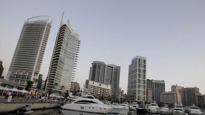 A general view shows Beirut skyline from its western waterfront side on June 21, 2012