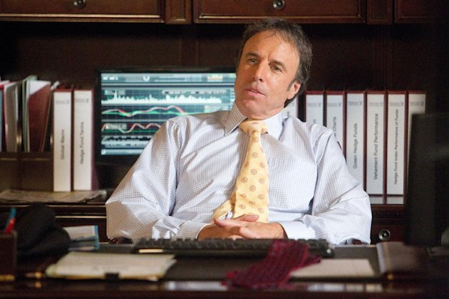 "This undated image released by Showtime shows Kevin Nealon as Doug Wilson in a scene from the seventh season of ""Weeds."" Nealon comes across as a mellow guy, which makes the title of his new Showtime comedy special a proper fit. ""Kevin Nealon: Whelmed But Not Overly,"" debuting 10:30 p.m EDT Saturday, Aug. 4, 2012, is the actor-comedian's examination of his phobias that range from inoculations to cell phones to chimpanzees. (AP Photo/Showtime, Jordin Althaus)"