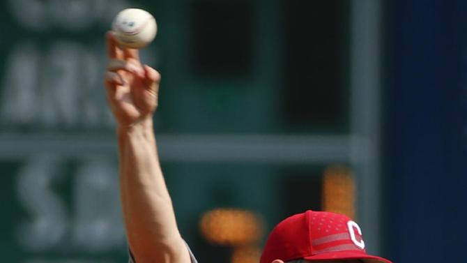 Cleveland Indians starting pitcher Cody Anderson delivers during a baseball game against the Pittsburgh Pirates in Pittsburgh Saturday, July 4, 2015.(AP Photo/Gene J. Puskar)
