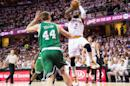 Basketball/NBA - Cavaliers' Irving shines in playoff debut