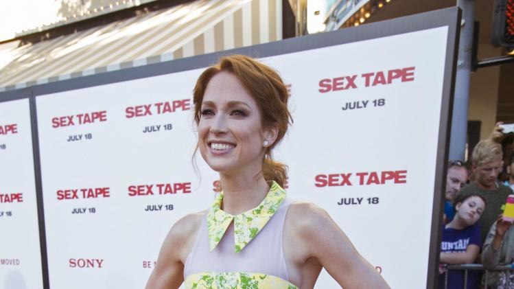 "Cast member Kemper poses at the premiere of ""Sex Tape"" in Los Angeles"