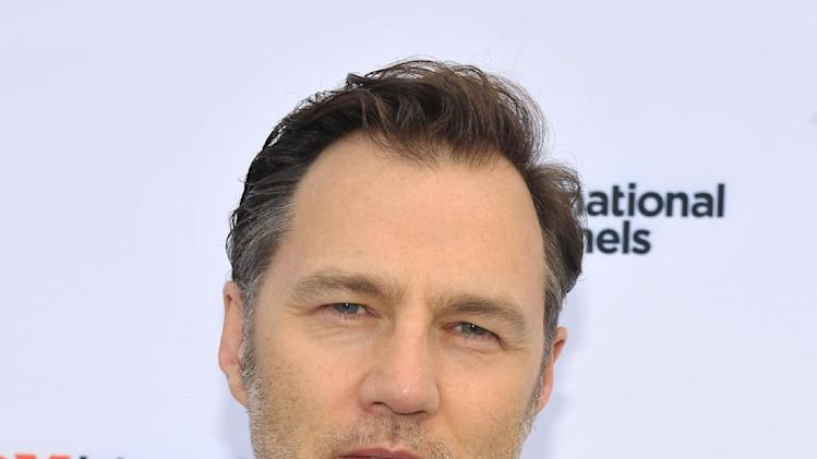 "COMMERCIAL IMAGE -  David Morrissey attends  AMC's ""The Walking Dead"" Fox Breakfast on Friday July 13, 2012, in San Diego. (Photo by John Shearer/Invision for AMC/AP Images)"