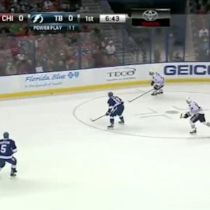 Blackhawks at Lightning / Game Highlights