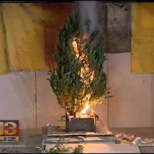 University Of Maryland Holds Holiday Fire Safety Demo