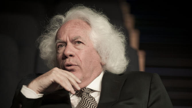 In this Sunday, June 9, 2013 photo, Leon Wieseltier,.intellectual and philosopher who has been the literary editor of The New Republic for more than three decades, poses for a photograph in Tel Aviv, Israel. Wieseltier has been a leading supporter of Israel in Jewish American intellectual circles. But the U.S.-based author now fears the country's survival may be in jeopardy and says much of the blame lies with Prime Minister Benjamin Netanyahu. (AP Photo/Dan Balilty)
