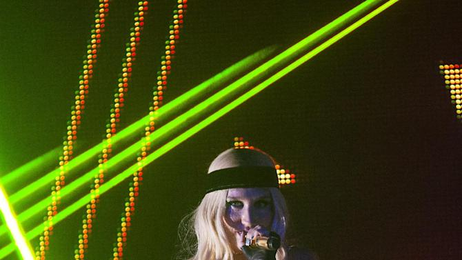 IMAGE DISTRIBUTED FOR PARK CITY LIVE - Ke$ha performs onstage at Park City Live Day 10 on Saturday, January 26, 2013, in Park City, Utah. (Photo by Barry Brecheisen/Invision for Park City Live/AP Images)
