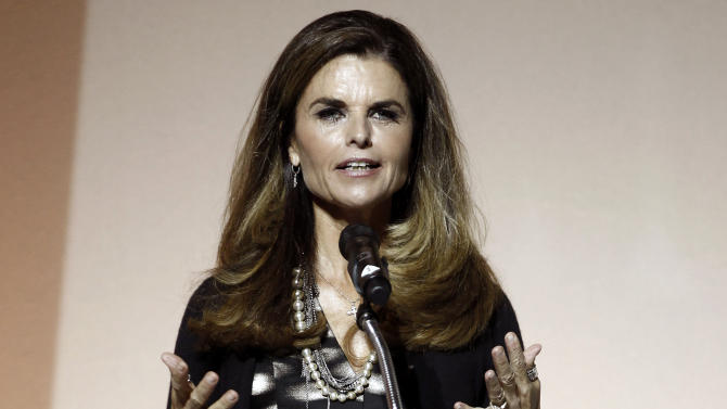 FILE - This May 1, 2012 file photo shows Maria Shriver speaking at the 7th Annual MOCA Award to Distinguished Women in the Arts luncheon in Beverly Hills, Calif. NBC announced announced on Tuesday, April 30, 2013, that Shriver will join the network as a special anchor working on issues surrounding the shifting roles of women in American life. (AP Photo/Matt Sayles, file)