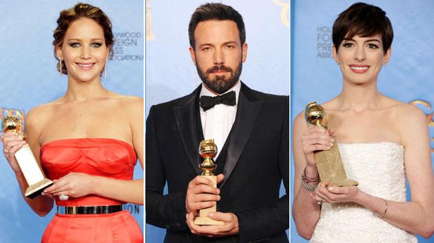 Golden Globes 2013 Jennifer Lawrence Ben Affleck Anne Hathaway 630