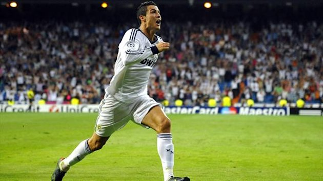 Real Madrid's Cristiano Ronaldo celebrates after scoring a goal against Manchester City during their Champions League (Reuters)