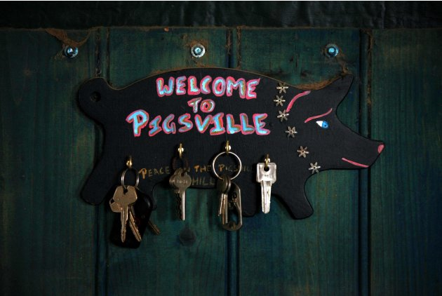 "A bunch of keys can be seen on the wall of farmer Haynes house on her property known as ""Pigsville' in Mudgee"