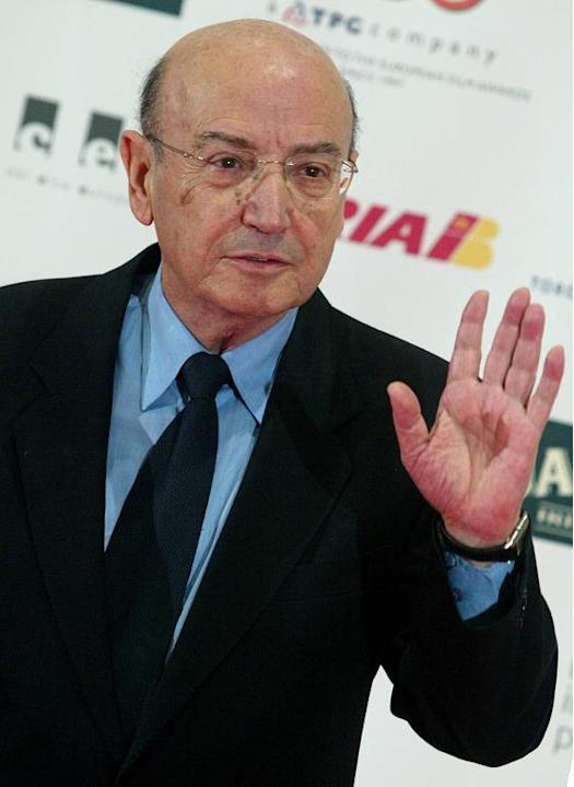 Greek film director, Theo Angelopoulos, arrives for the 2004 European Film Awards ceremony at the Barcelona's International Convention Center, on December 11, 2004