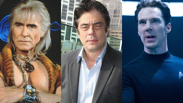 Ricardo Montalb&#xE1;n, Benicio del Toro, and Benedict Cumberbatch