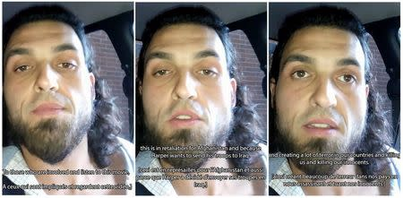 Michael Zehaf-Bibeau is seen in making a short recording just before he launched attacks in Ottawa