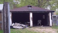 A fire in a two-car garage in the 100 block of Aikins Street caused $20,000 in damage.
