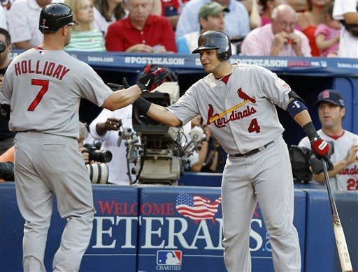 Cardinals beat Braves 6-3 in disputed playoff