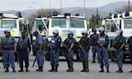 South African Mine: Rubber Bullets Fired