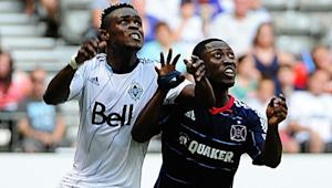 "Chicago Fire's Patrick Nyarko rues goals by Vancouver's Camilo Sanvezzo: ""We let him get free"""