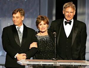 "George Lucas ""Already Signed"" Harrison Ford, Carrie Fisher, Mark Hamill for Star Wars"