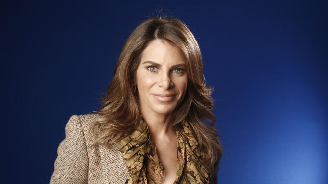 """FILE - This Jan. 6, 2012 file photo shows fitness guru Jillian Michaels in New York. Michael, a fitness coach on NBC's """"The Biggest Loser,"""" has a new book, """"Slim for Life: My Insider Secrets to Simple, Fast and Lasting Weight Loss."""" (AP Photo/Carlo Allegri, file)"""
