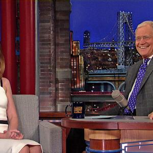 "Emily Blunt's ""Into The Woods"" Pregnancy - David Letterman"
