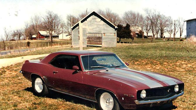In this undated photo, a 1969 Camaro is seen in Jefferson City, Mo..  Missouri man and his beloved classic car have been reunited 16 years after the vehicle was stolen. (AP Photo/The Deseret News, Edward Neeley)  SALT LAKE TRIBUNE OUT; PROVO DAILY HERALD OUT; MAGS OUT    (AP Photo/Ed Neeley)