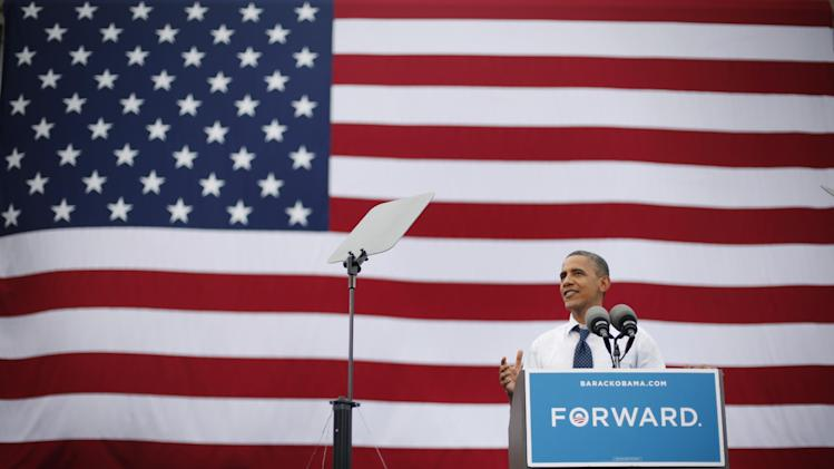 President Barack Obama speaks during a campaign event at the University of Iowa, Friday, Sept. 7, 2012 in Iowa City, Iowa. (AP Photo/Pablo Martinez Monsivais)