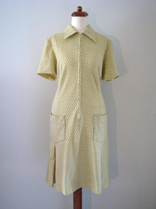 1960s Geometric Shirtwaist Dress