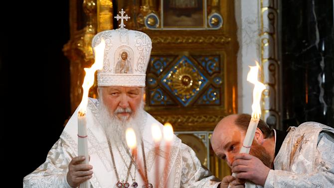 Patriarch of Moscow and All Russia Kirill conducts Orthodox Easter service at Christ the Saviour Cathedral in Moscow