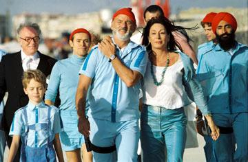 Michael Gambon , Willem Dafoe , Bill Murray , Anjelica Huston and Warus Ahluwala in Touchstone Pictures' The Life Aquatic with Steve Zissou