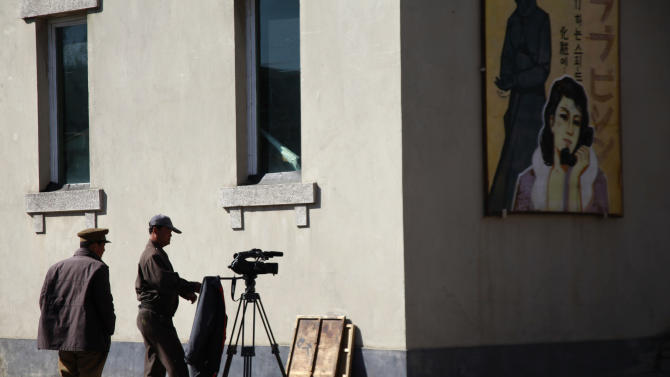 In this photo taken Tuesday, Oct. 25, 2011, a North Korean man prepares for filming at a film studio in Pyongyang, North Korea. An international film festival opens Thursday, Sept. 20 in the unlikeliest of places: North Korea. Held every two years, the Pyongyang International Film Festival is the only time North Koreans get to see a wide array of foreign films on the big screen. It's also the only time foreigners are allowed into North Korean movie theaters to see films alongside the locals. (AP Photo/Ng Han Guan)