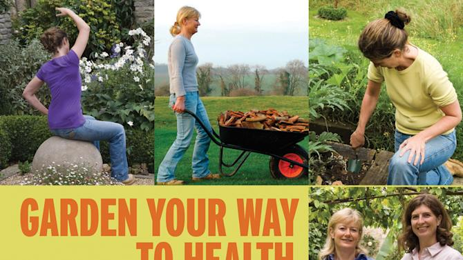 "This undated publicity photo released by courtesy Timber Press shows the book cover of ""Garden Your Way To Health and Fitness,"" by Bunny Guinness and Jacqueline Knox (Design, Bunny Guinness). (AP Photo/Courtesy Timber Press)"