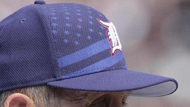 Detroit Tigers bench coach Gene Lamont watches from the dugout during a baseball game against the Toronto Blue Jays Saturday, July 4, 2015, in Detroit. (AP Photo/Duane Burleson)