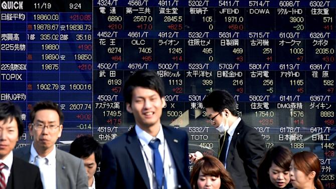 Asian stock markets advanced on November 26, 2015, with Tokyo ending up 0.5%