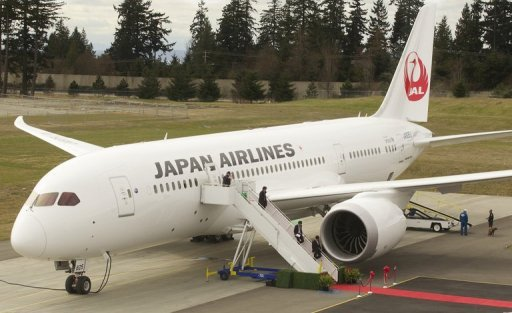 One of 10 new Boeing Dreamliner aircraft ordered by Japan Airlines as it goes on the offensive to build on its recovery