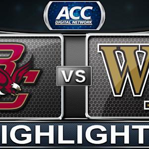 Boston College vs Wake Forest | 2014 ACC Basketball Highlights